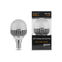 GAUSS LED BRIGHT GLOBES 5W 2700K E14